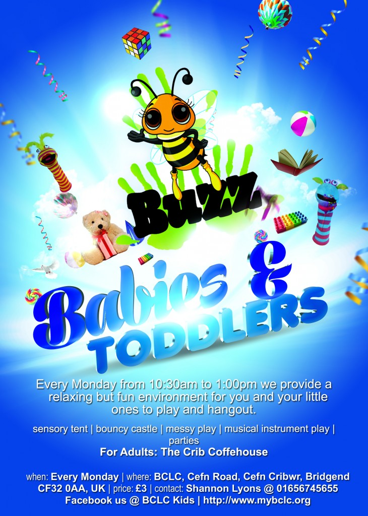 Monday is Toddler, Kids & Youth Day @ BCLC @ BCLC,  | Cefn Cribwr | United Kingdom