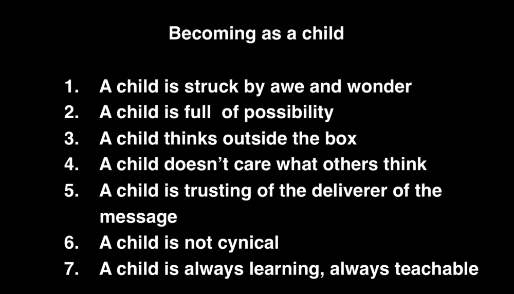 Becoming A Child Part 1